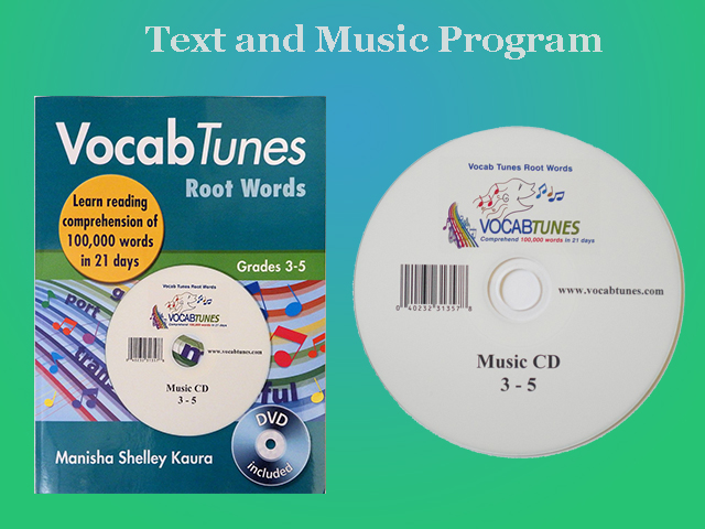 Vocab Tunes Root Words 3-5 Grade english Vocabulary