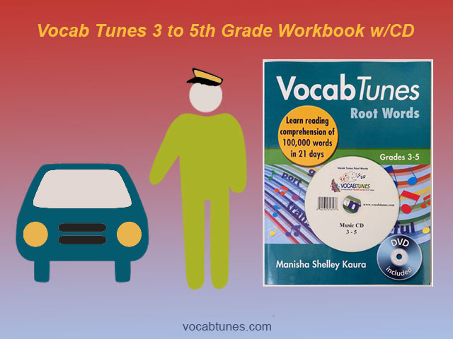 3-5 Grade Kids Vocabulary Building Workbook w/CD
