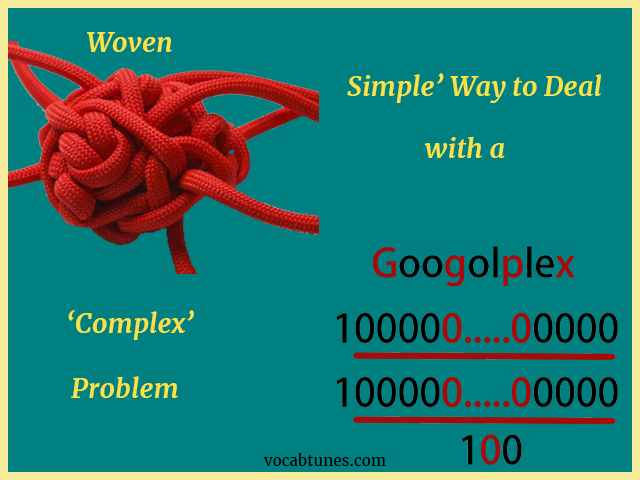 Simple Way to Deal with a Complex Problem