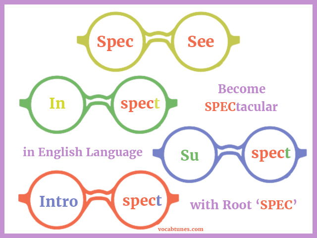 Become SPECtacular in English Language with Root 'SPEC'