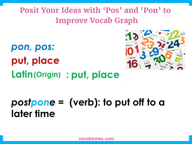 Posit Your Ideas with 'Pos' and 'Pon' to Improve Vocab Grap