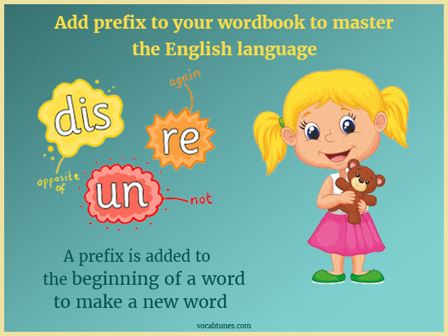 Add prefix to your wordbook to master the English language